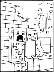 Printable Minecraft Games Creeper Coloring Page Minecraft