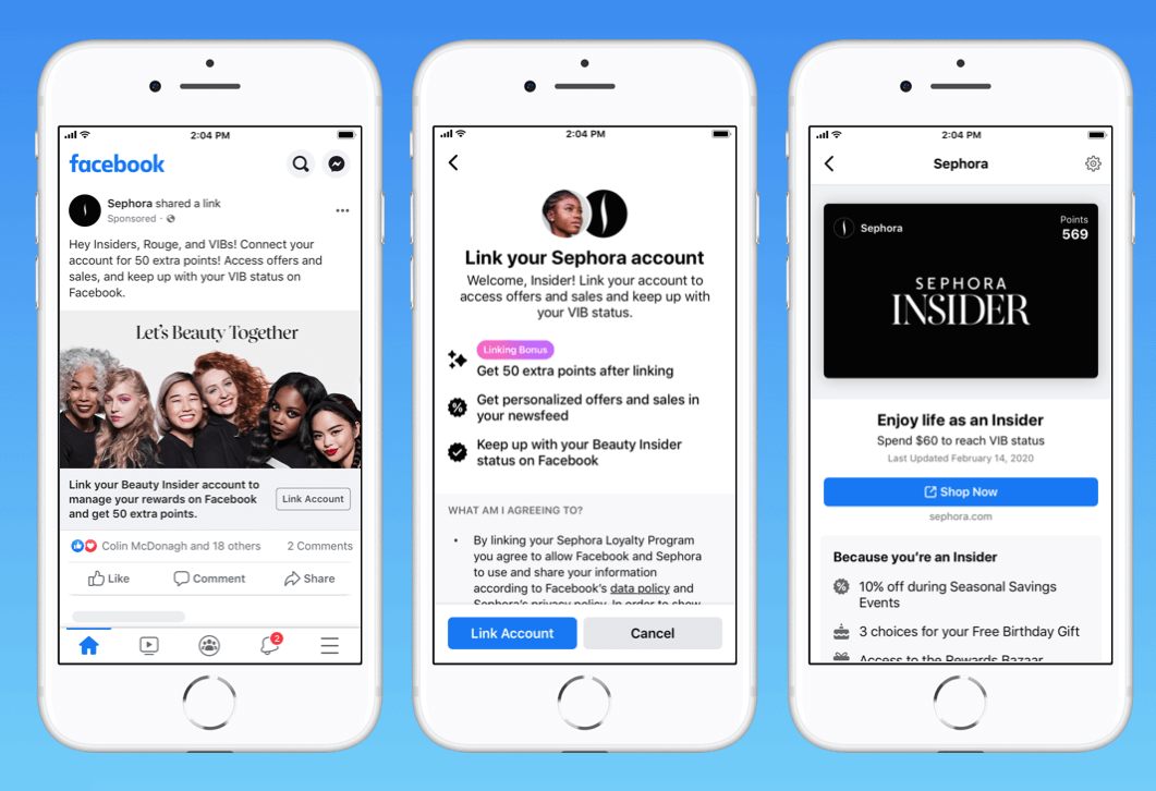 Facebook S New Program Will Let Users Link Their Brand Loyalty Accounts To Facebook App In 2020 Social Media Marketing Social Media Brand Loyalty