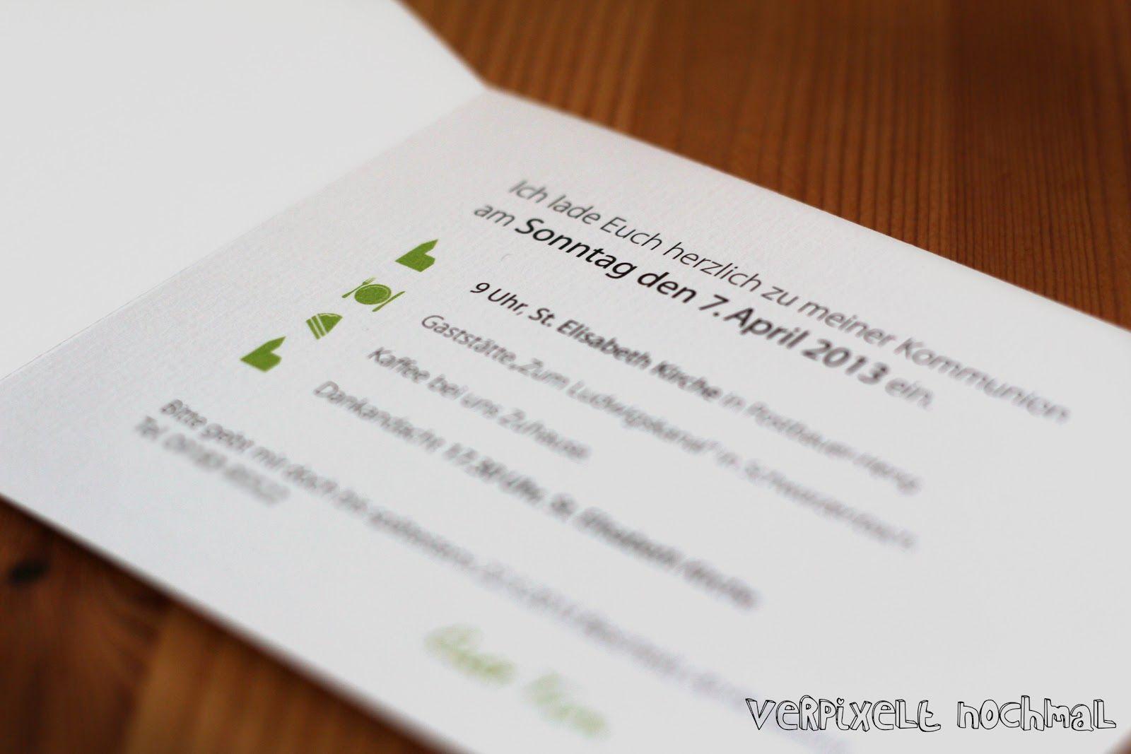 kommunion-einladungskarten und frühjahrsboten