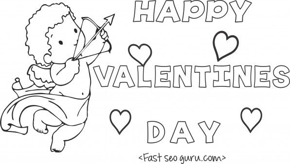 Print Out Happy Valentines Day Cupid Coloring Card Printable Coloring Pages For Kid Valentines Day Coloring Valentine Coloring Pages Free Kids Coloring Pages