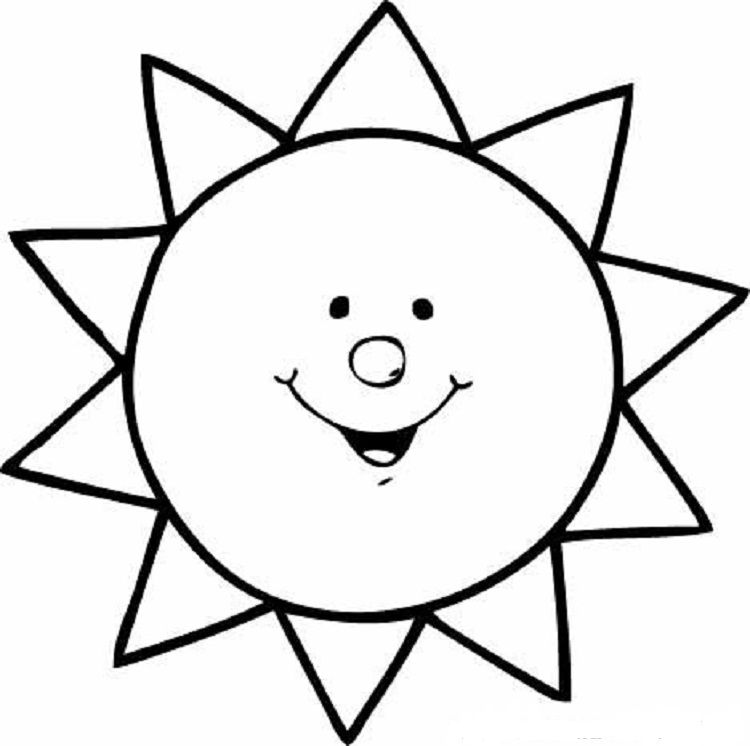 Pin By Madzia On Boyama Sayfalari Sun Coloring Pages Coloring Pages For Kids Coloring Pages
