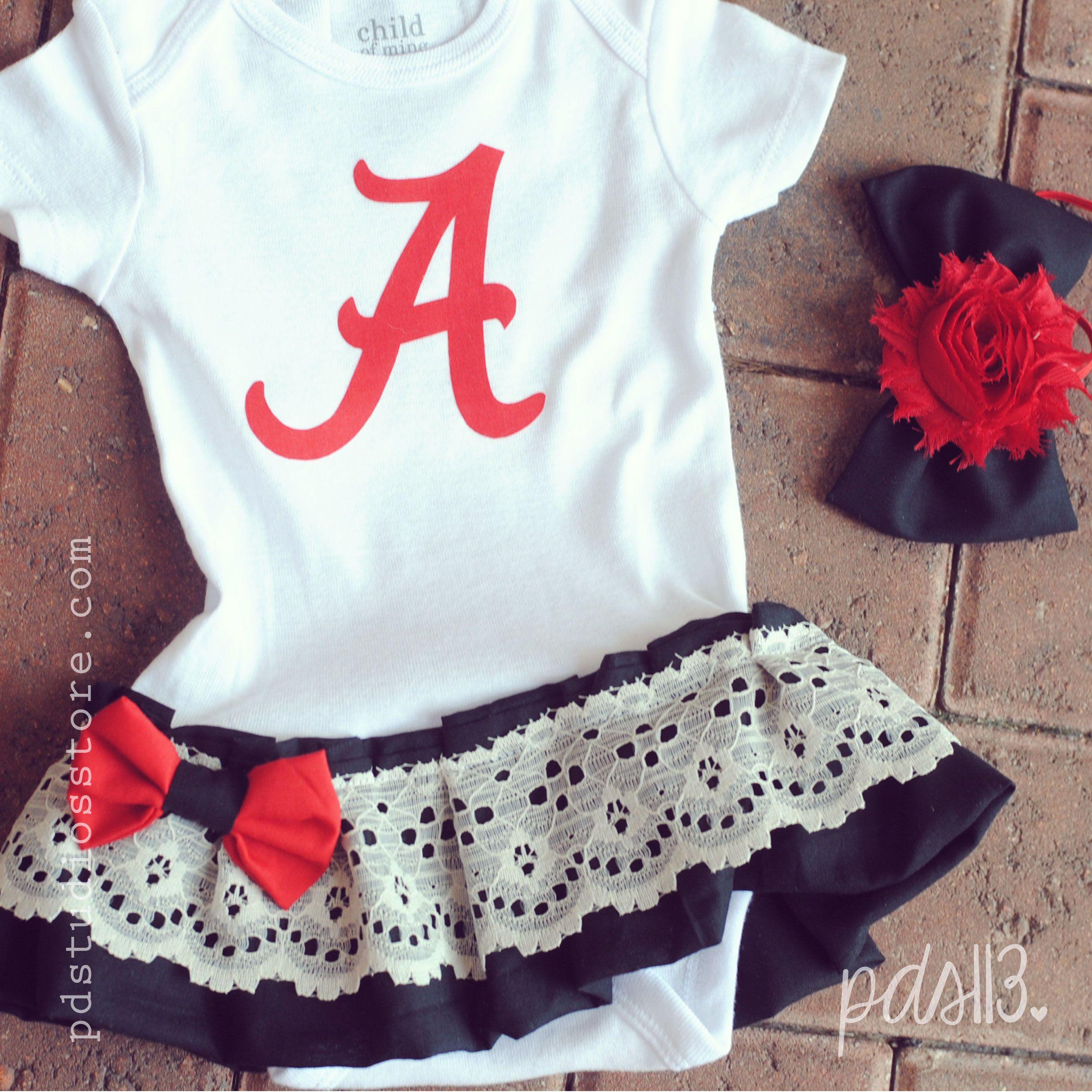 Alabama Baby Girl Sport Dresses Bodysuits