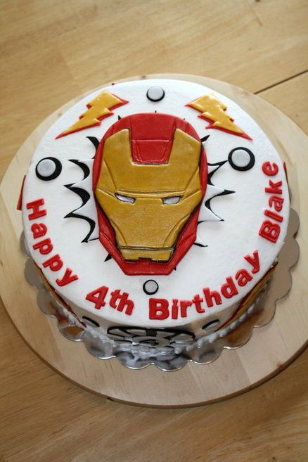 Iron Man Birthday Cake Birthday Cakes For Men