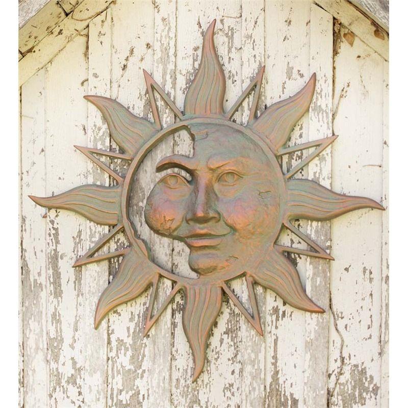 Mysterious Sunface Metal Sun Wall Art Wind Weather Metal