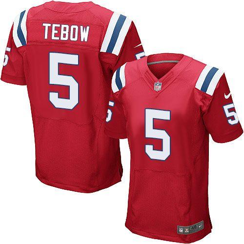 03e76b3c7 Men s Nike New England Patriots  5 Tim Tebow Elite Red Alternate NFL Jersey  www.nikepatriotsnflstores.com