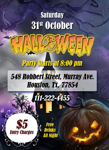 halloween-pary-ms-word-flyer Ready-Made Templates Pinterest - free microsoft word flyer templates