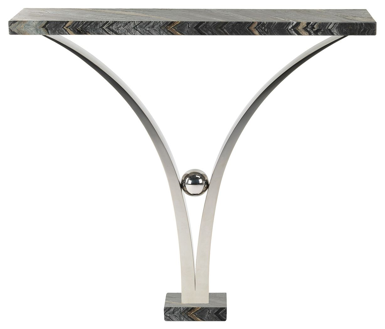Viola console table polished stainless steel with stone top and viola console table polished stainless steel with stone top and plinth 700 x 300 x 850 geotapseo Gallery