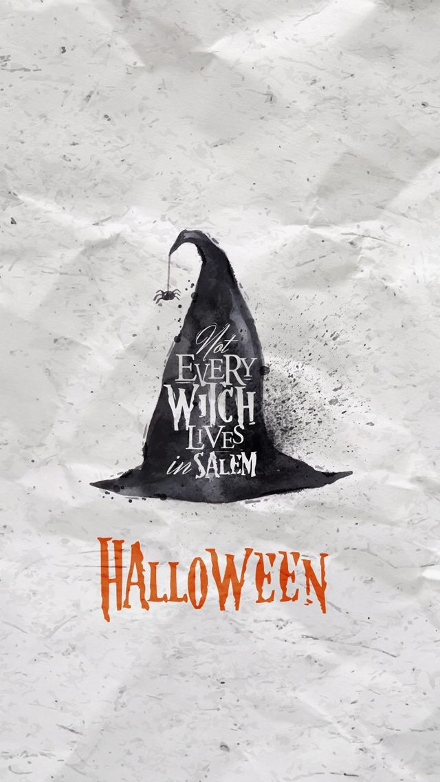 Halloween Witch Hat iPhone 5s Wallpaper