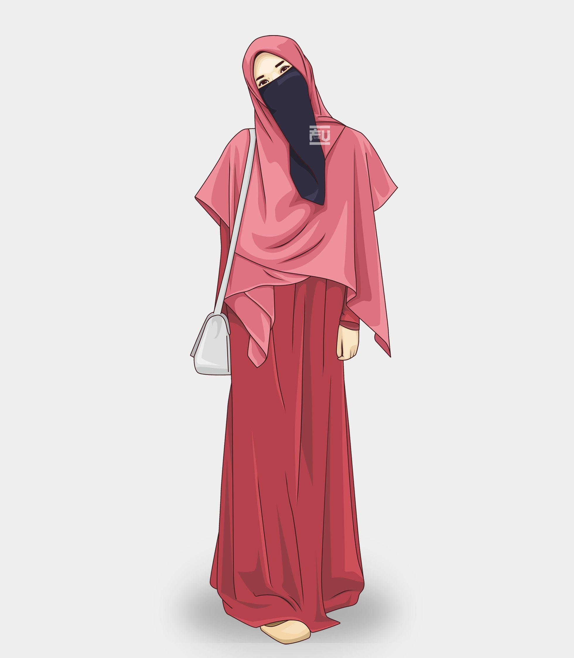 vector #hijab #niqab @ahmadfu12  Gaya model pakaian, Model
