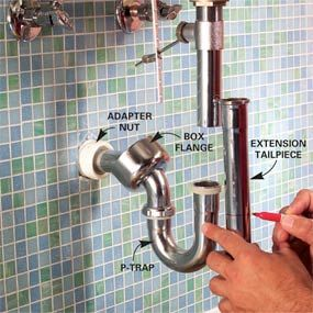 Installing A Bathroom Sink Wall Hung Sink Bathroom Sink Drain Sink Drain Diy Plumbing