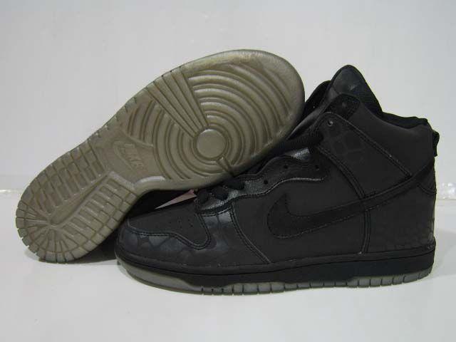 72c2a1ee98 Nike Dunk High LE 3M Reflective Croc Black Black | Nike Dunks | Nike ...
