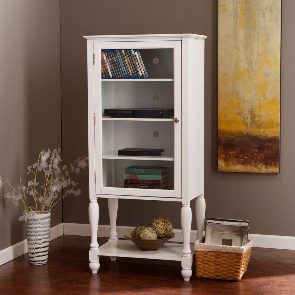 Torrance White Storage Cabinet