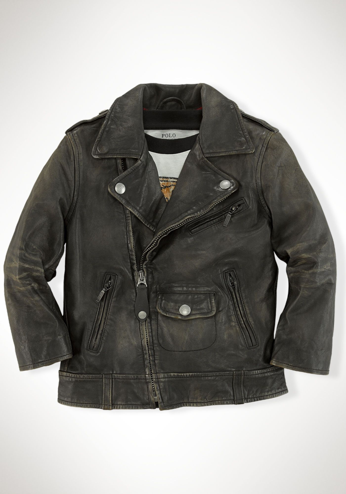 Leather Modbury Jacket Boys Leather Jacket Kids Fashion Ralph Lauren Kids [ 2000 x 1400 Pixel ]