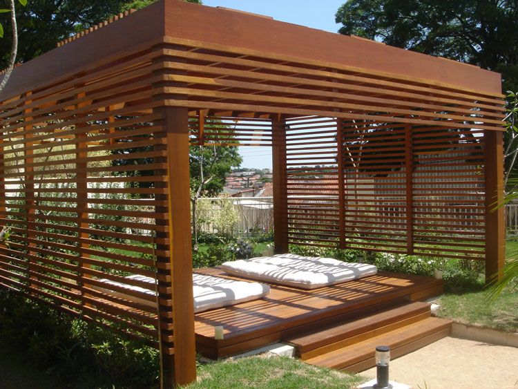 7 tipos de casas com pergolados Pérgolas, Terrazas y Jardín