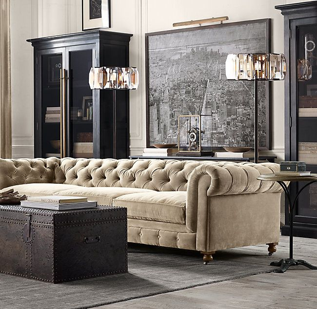 Rh S Kensington Upholstered Sofa A Masterful Reproduction By Timothy Oulton Of The Clas Trendy Living Rooms Farm House Living Room Rustic Living Room Furniture #rustic #living #room #couch