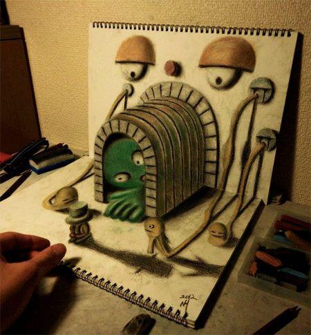 Indrukwekkende 3D tekeningen | Vind ik leuk