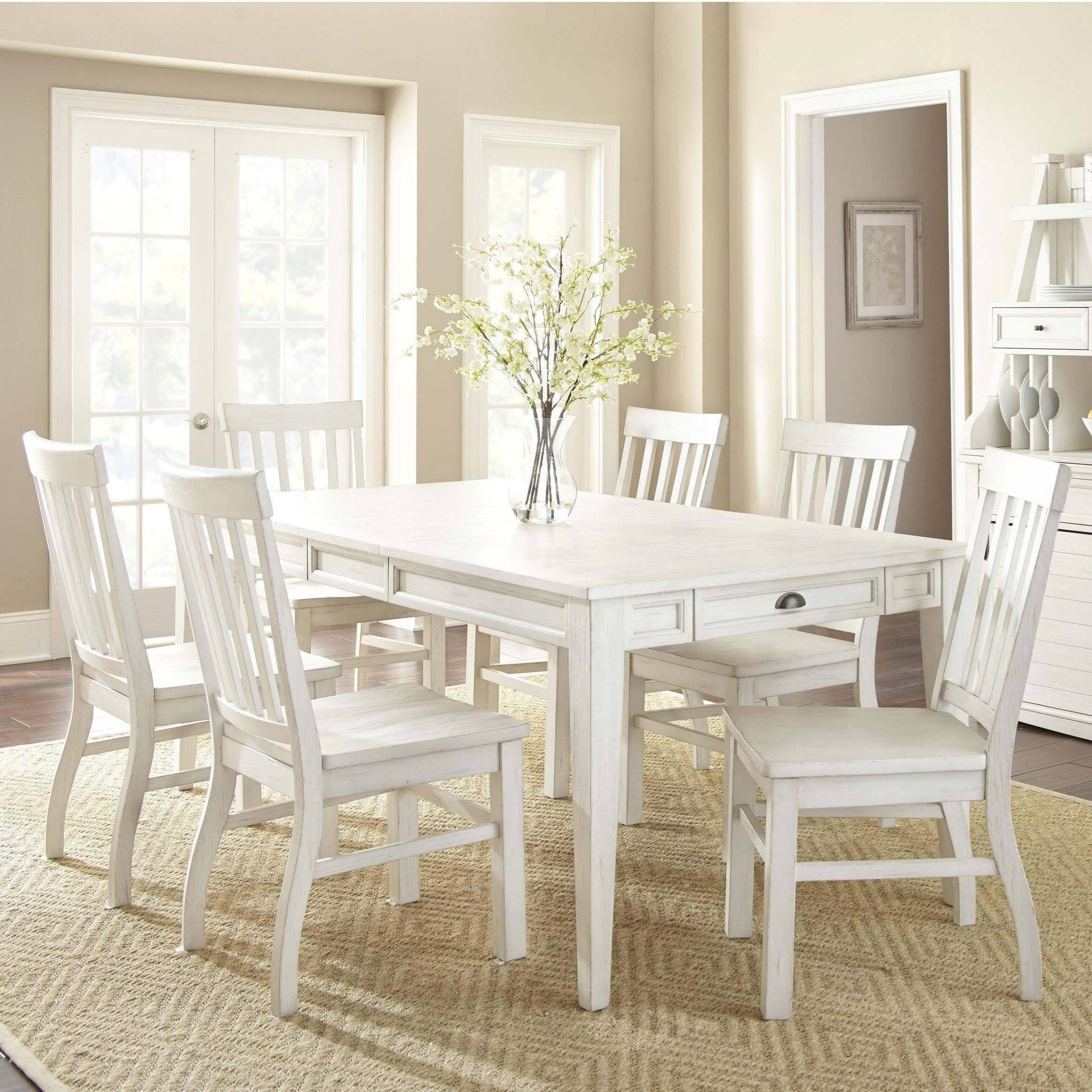Cayla 5 Piece Farmhouse Dining Set With Table Storage By Steve Silver At Wayside Furniture Dining Table Dining Room Sets Dining Table Setting