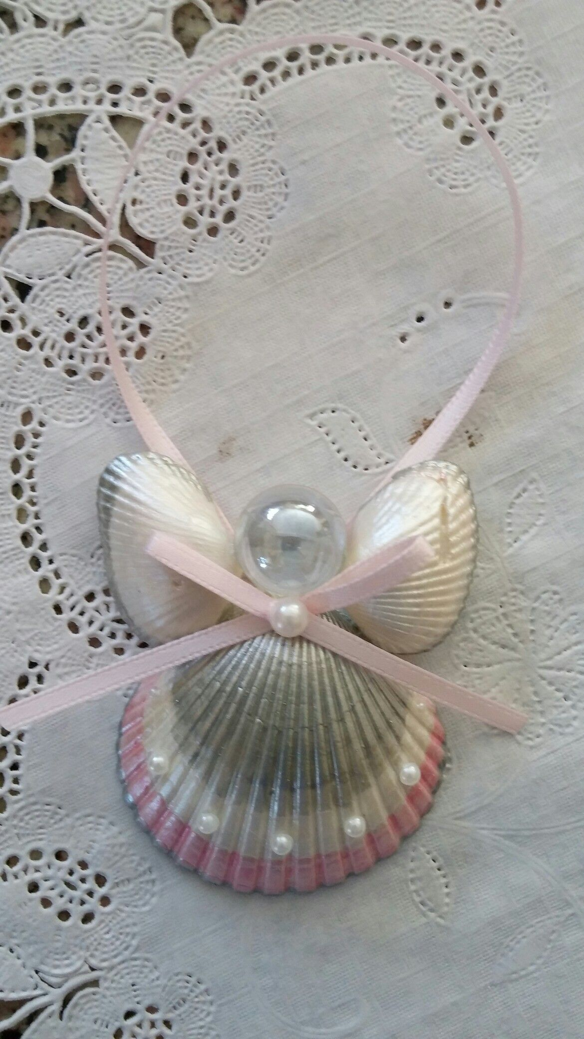 Handmade Angel Seashell Ornaments