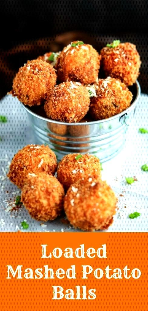 Loaded Mashed Potato Balls Loaded Mashed Potato Balls are the perfect way to use up leftover mashed
