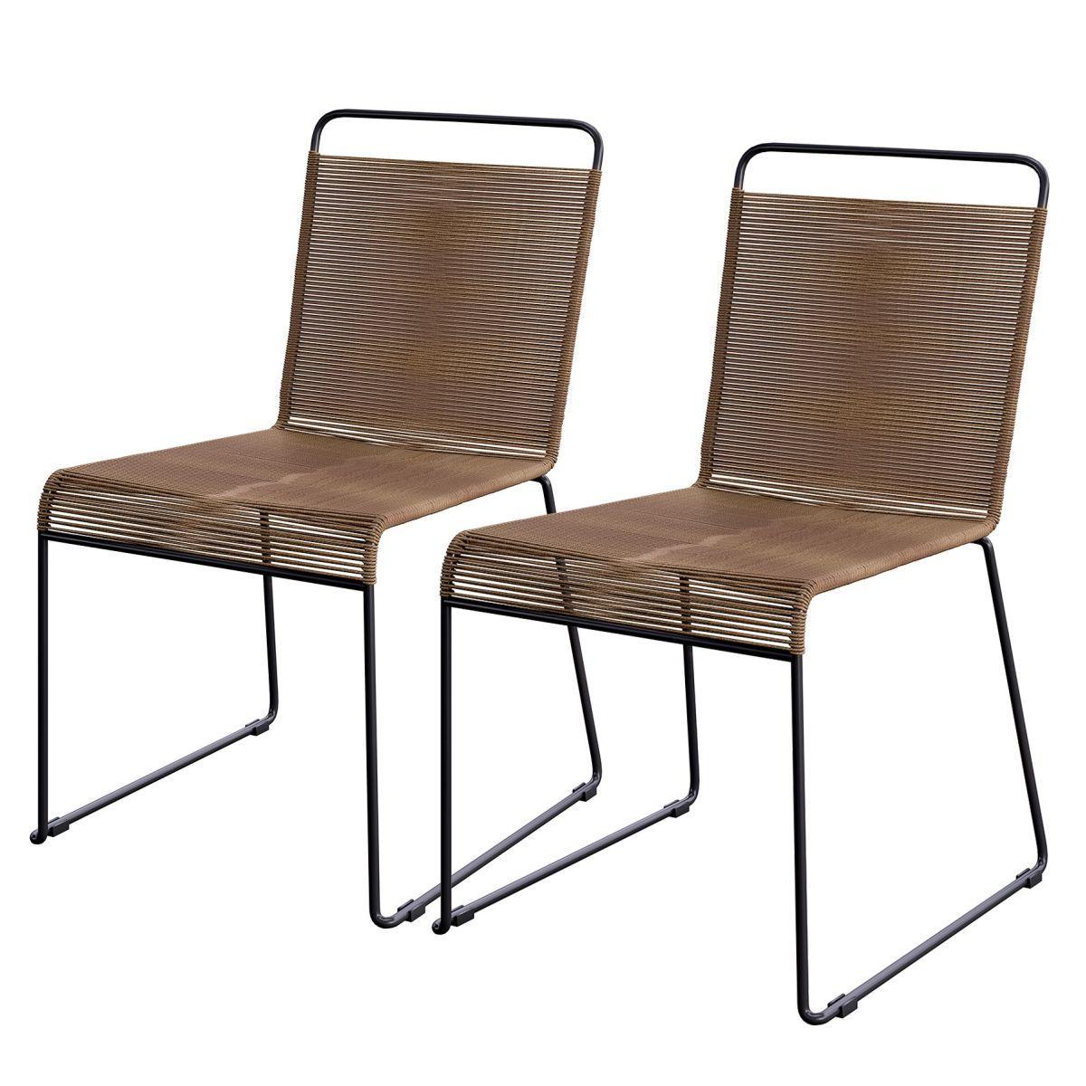 gartenstuhl klit 2er set polyrattan stahl braun schwarz ars natura jetzt bestellen. Black Bedroom Furniture Sets. Home Design Ideas