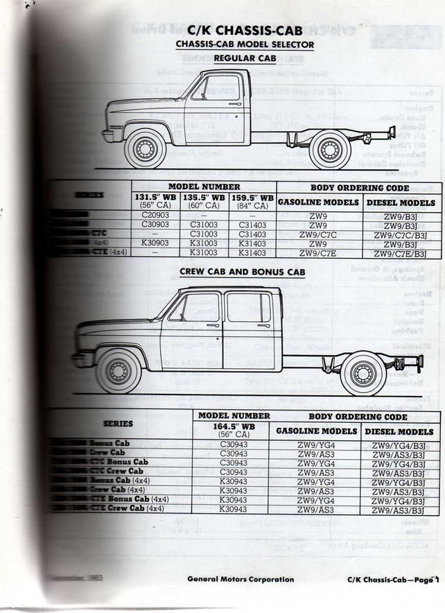 Cab And Chassis Specs The 1947 Present Chevrolet Gmc Truck