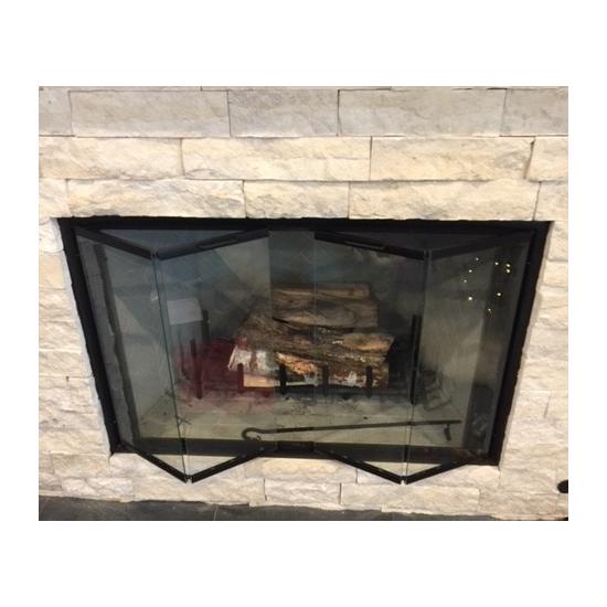 Pelham Prefabricated Fireplace Glass Door In Matte Black