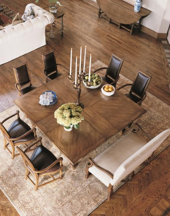 Square table for eight Century Classics Square-To-Square Dining ...