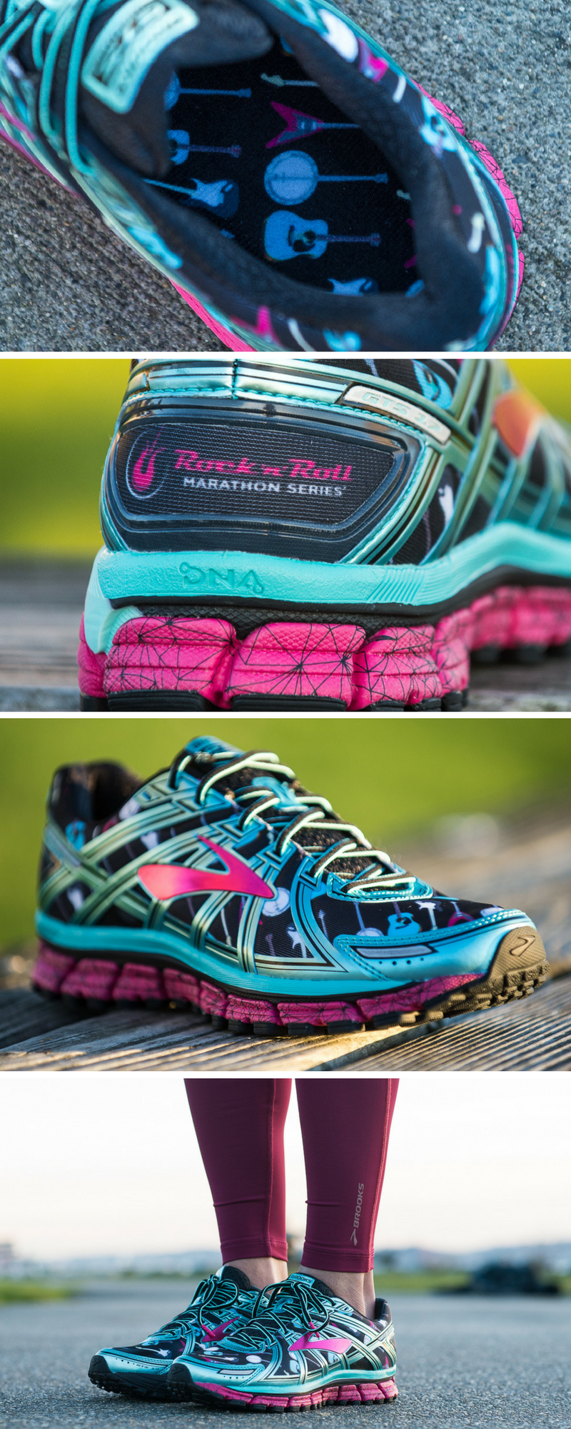 Rock Your Run The Limited Edition Rock N Roll Shoe From Brooks Running Brooks Running Running Shoes Brooks Running Shoes Women