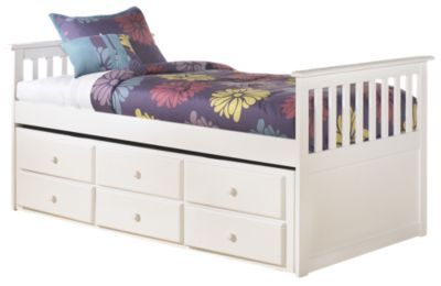 Ashley Lulu Twin Bed with Storage Trundle | Vrbo | Pinterest