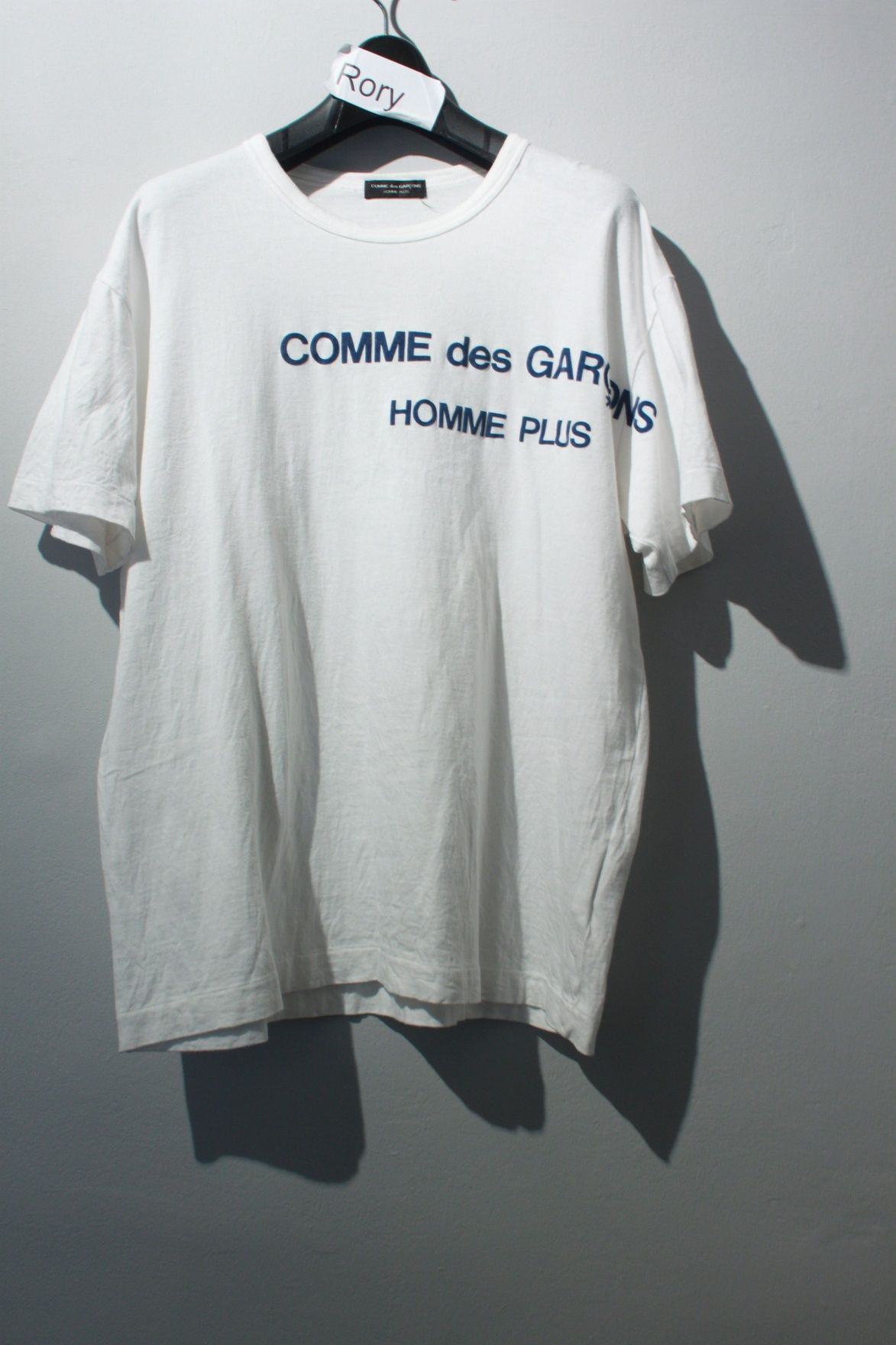 4b8203b4f888 Comme Des Garcons Homme Plus 1996 Felt Logo T Size US M   EU 48-50   2