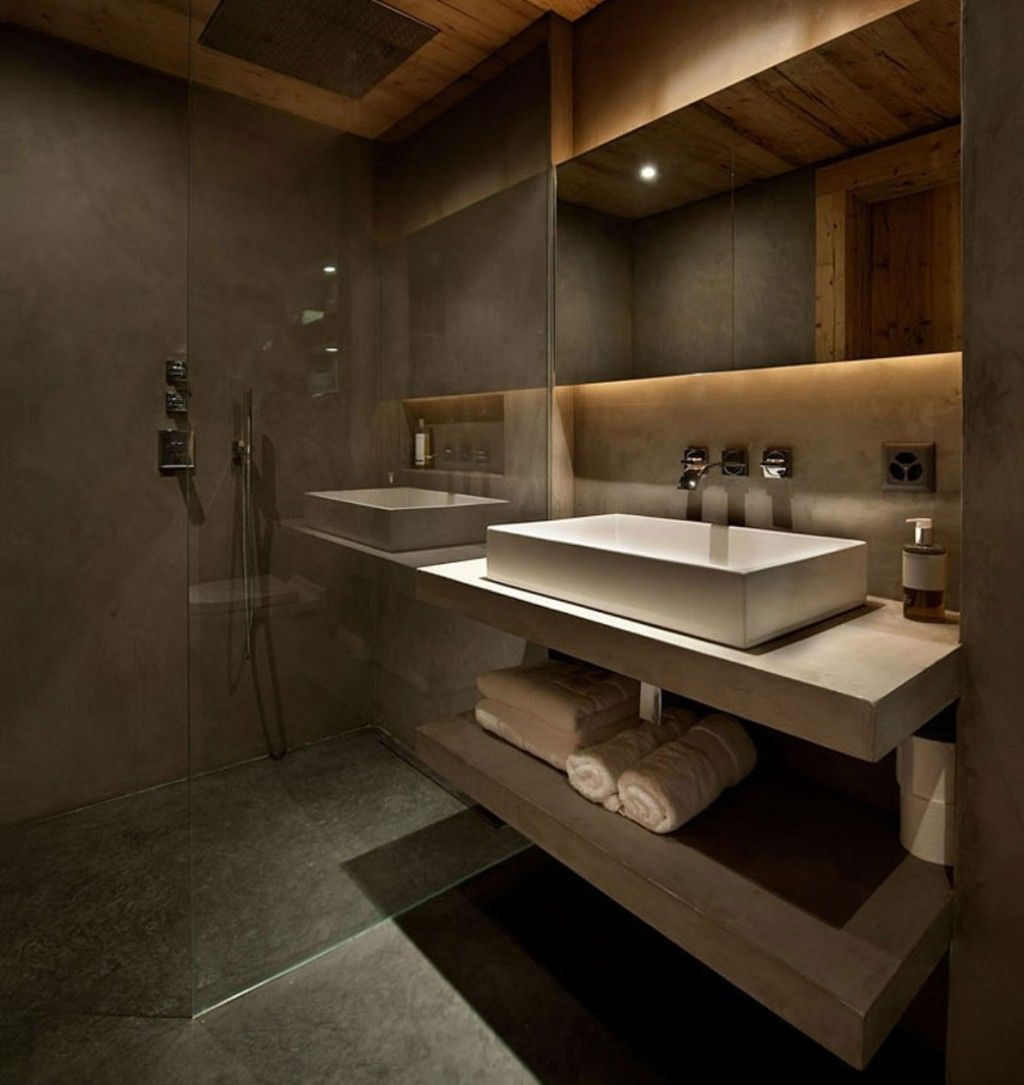 Architecture bathrooms are plastered in marmorino with for Bathroom ideas london