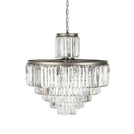 Leyland 22 light chandelier in nickel chandeliers and lights aloadofball Choice Image