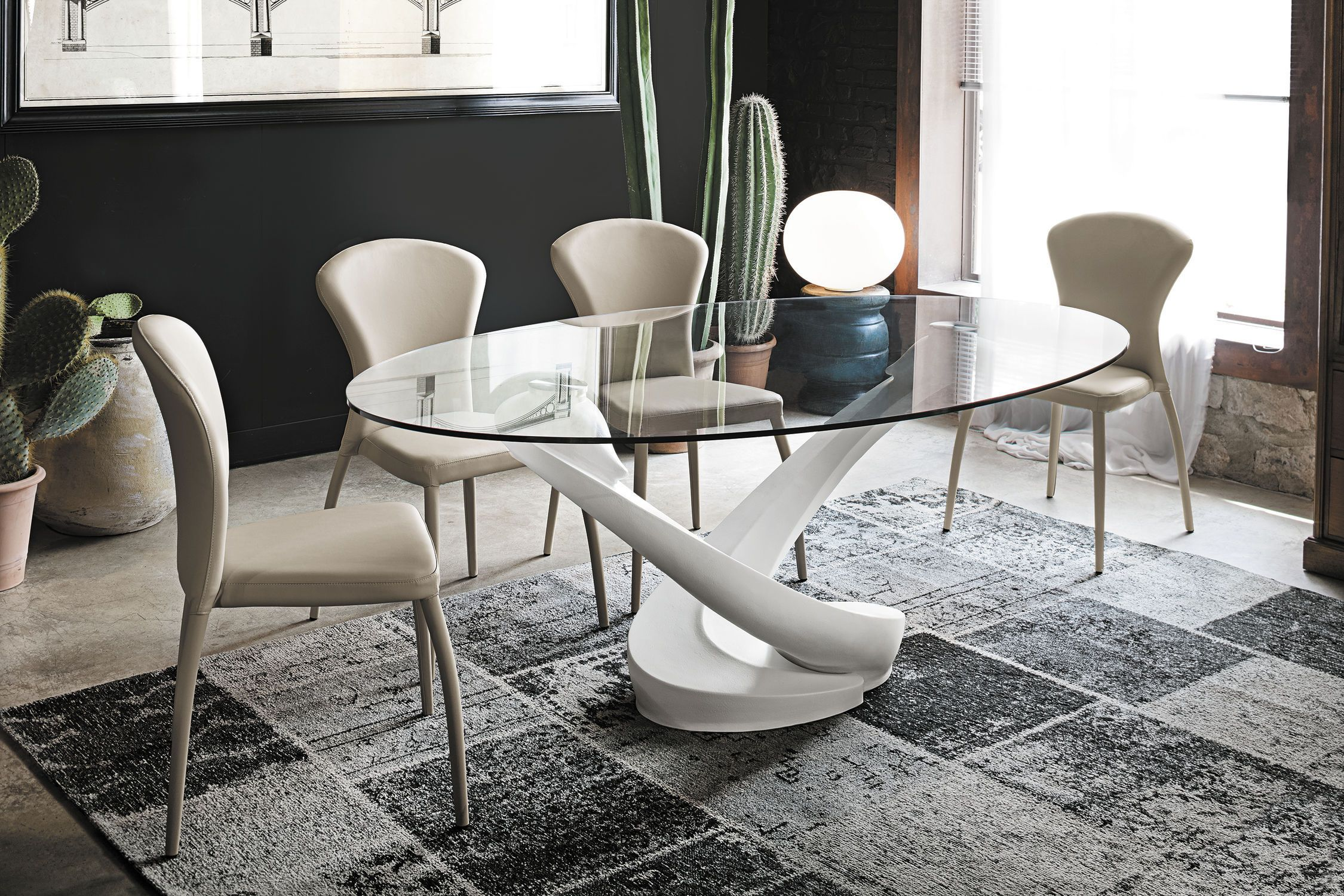 Resultado de imagen para mesas de comedor modernas de for Comedores redondos de cristal