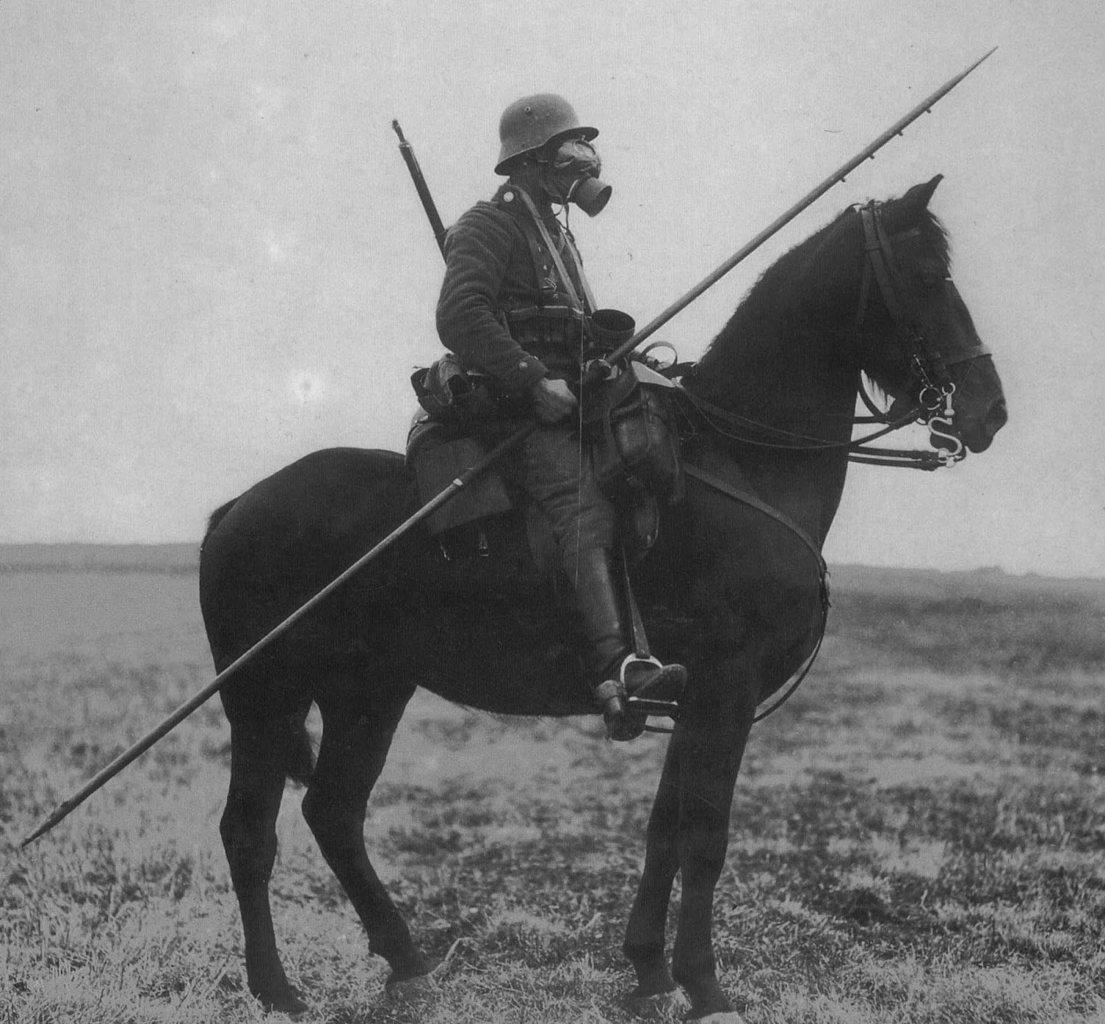 Some Armies Continued To Use Lances Throughout This War But They Seldom Saw Use On The Western Front After Initial Clashes I Cavalryman World War One Gas Mask