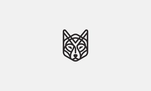 Line Art Wolf Tattoo: Line Art Used In Logo Design