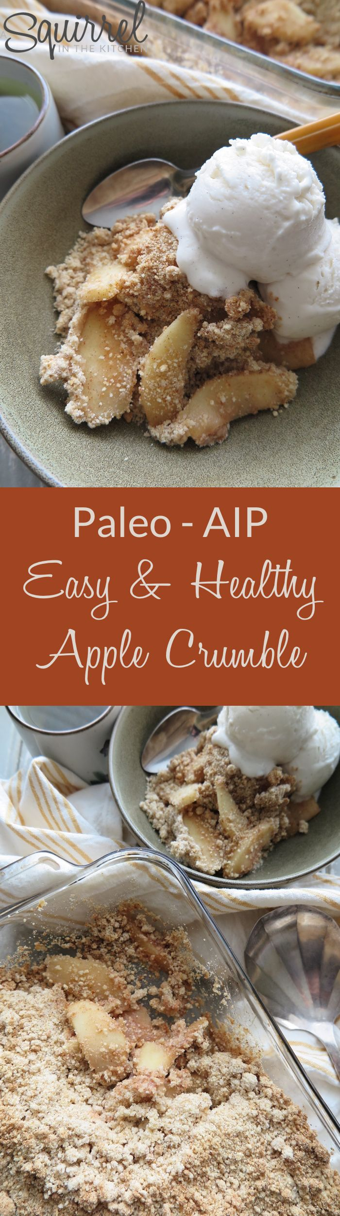 A Squirrel in the Kitchen | Easy and Healthy Apple Crumble [Gluten-Free-Oat-Free-Paleo-AIP] | http://asquirrelinthekitchen.com