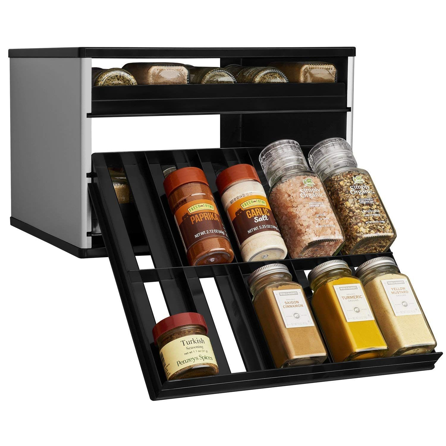 Amazon Com Youcopia Chef S Edition Spicestack 30 Bottle Spice