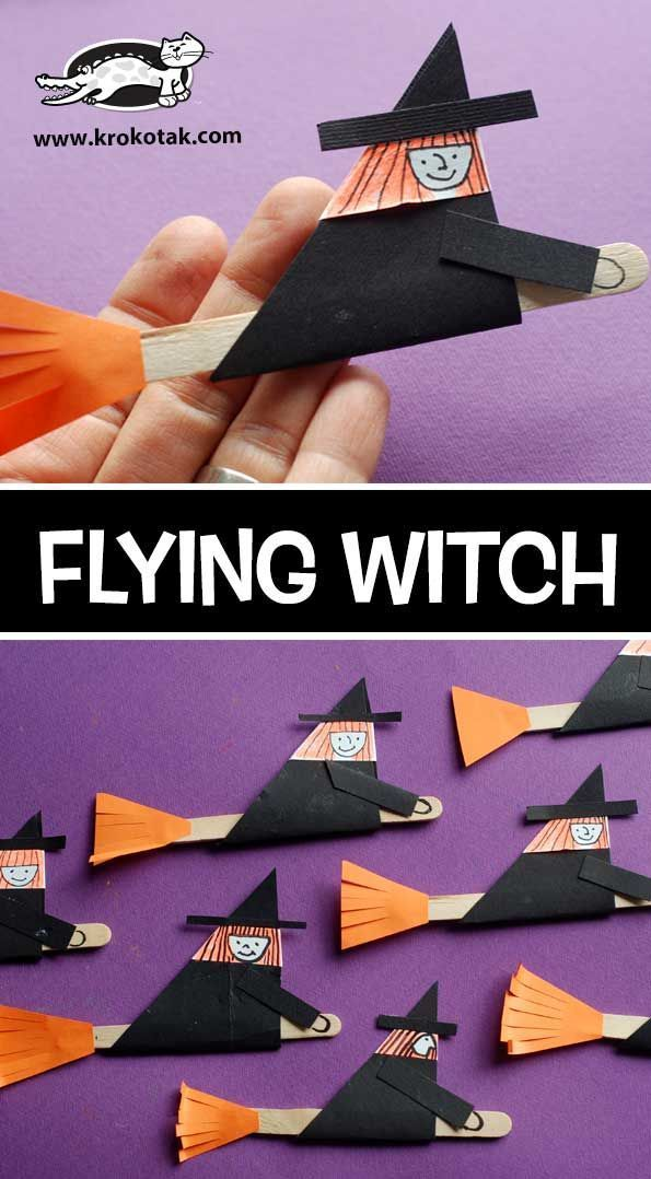 FLYING WITCH (krokotak) - #fly #Flying #krokotak #WITCH #bricolagehalloweenenfant