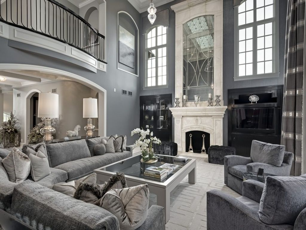 Naperville Home For Sale  Luxury living room, Farmhouse living