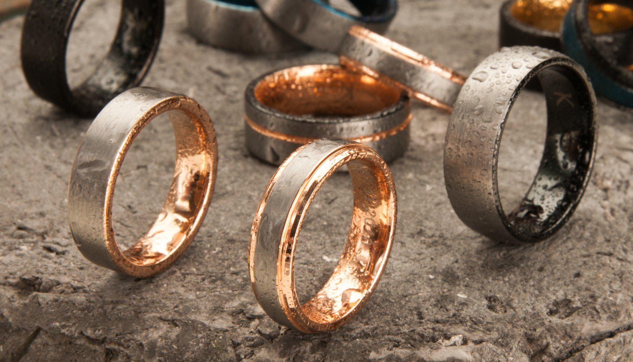 Custom Mens Tungsten Wedding Rings KAVALRI Wedding