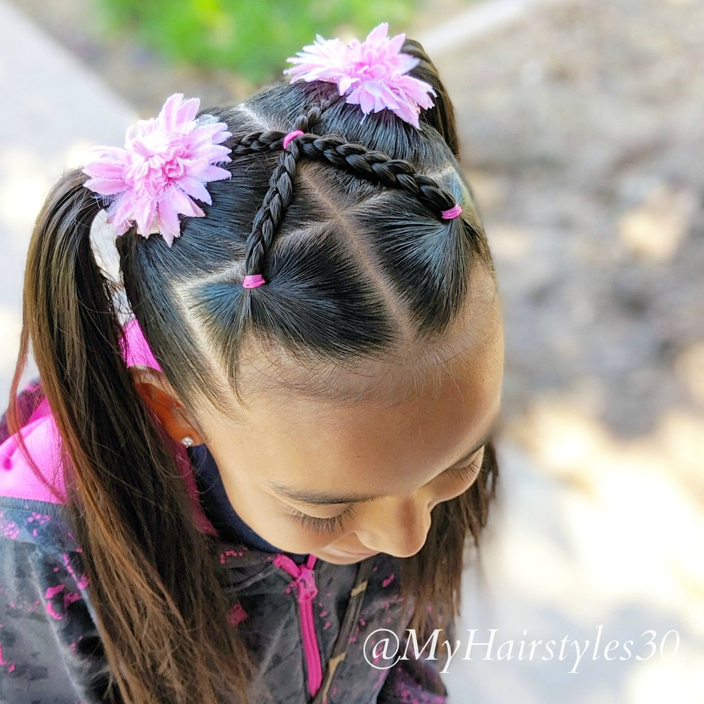 Criss Cross Braids Into Two Ponytails 06 21 2019 Instagram Myhairstyles30 In 2020 Hair Styles Girl Hair Dos Little Girl Hairstyles