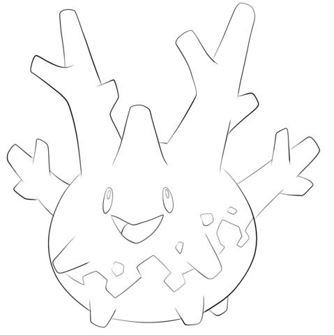 Corsola Coloring page | LineArt:Generation II Pokemon | Pinterest