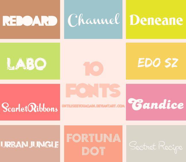 Download Pack de Fonts by ~untilIseeyouagain on deviantART   Font ...