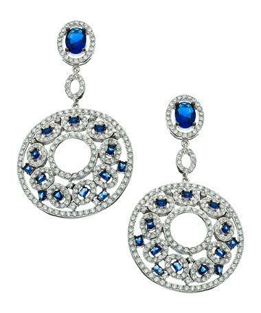 Vivian Jacob CZ Round Filigree Drop Earrings #maxandchloe