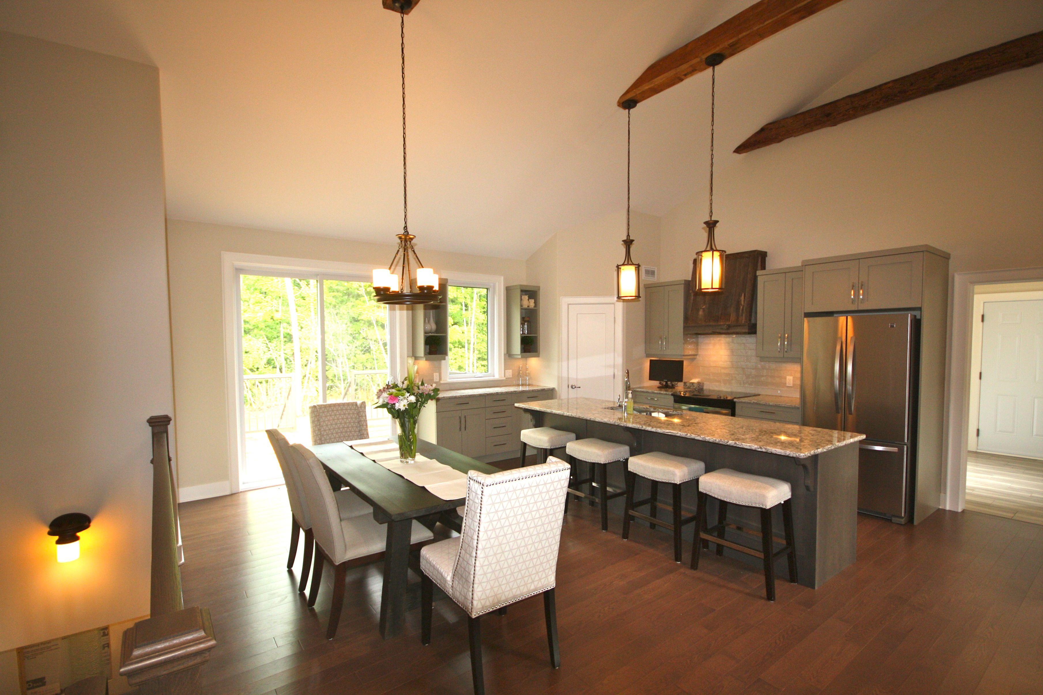Kitchen in flint hill estates model home lockwood brothers