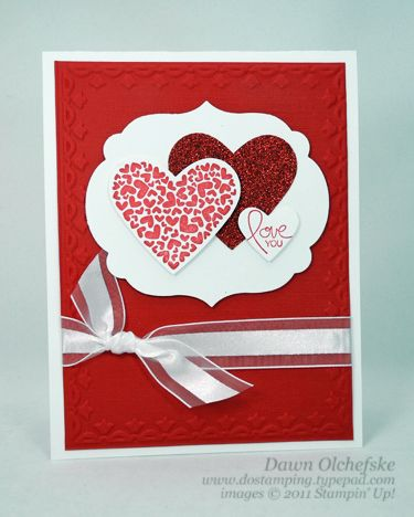 Love You Hearts Framed! by dostamping - Cards and Paper Crafts at Splitcoaststampers