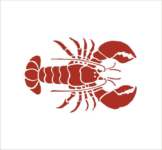 Crab And Lobster Stencil 3 By SuperiorStencils 550