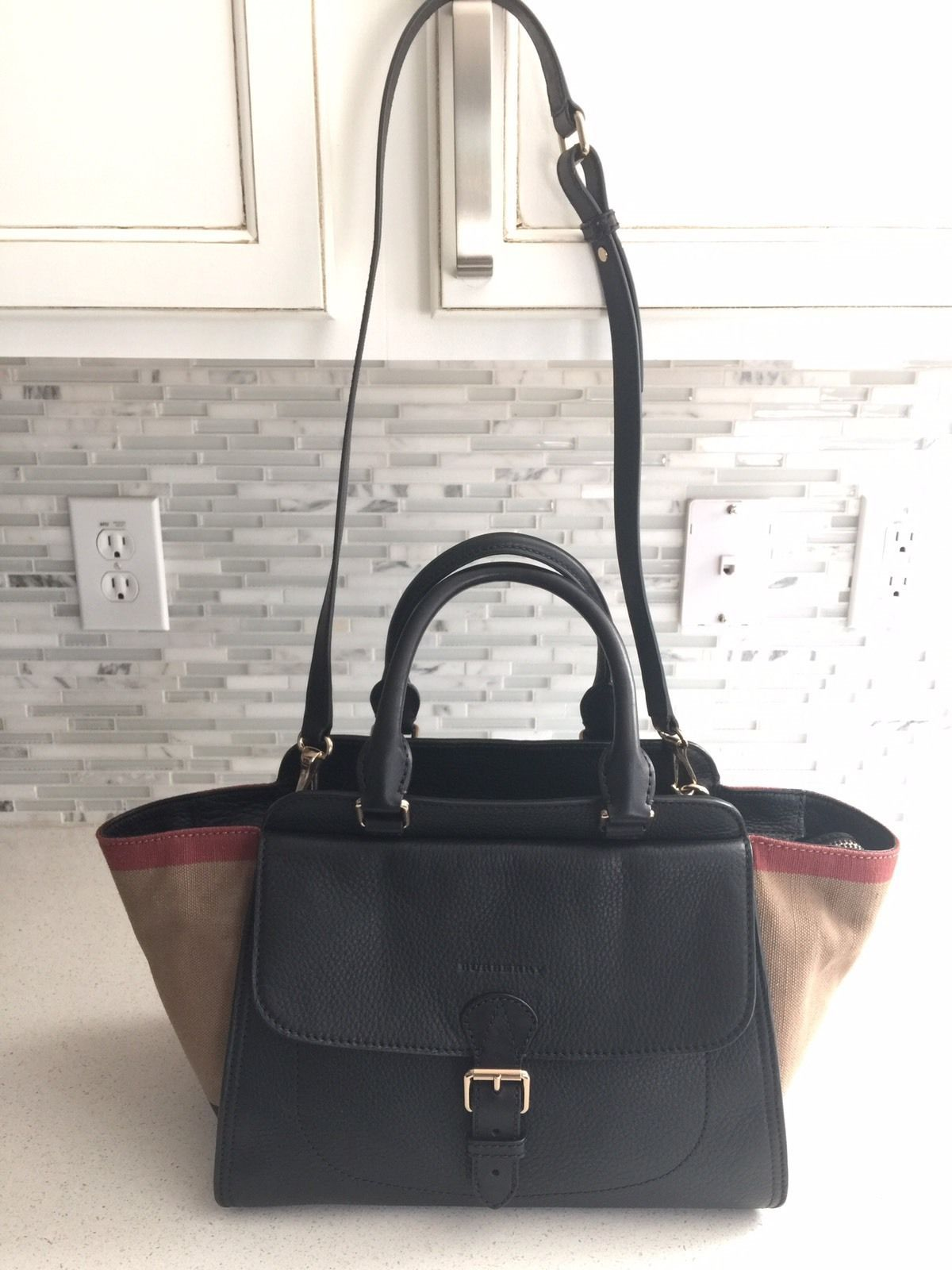 black burberry purse