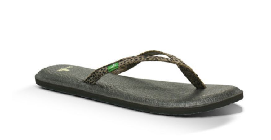 f46a57ecee9 Sanuk Yoga Spree LYNX Brown Flip Flops SZ 5