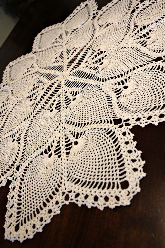 Lovely Crochet Pineapple Tablecloth by DoilyMania on Etsy | Doilies ...